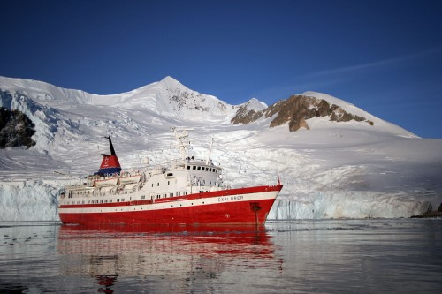 The last time the MS Explorer sailed along the coasts of Antarctica