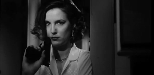 Veerle Van Overloop in the short film noir: The Bloody Olive