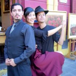 Me in La Boca posing with the Tango Dancers that entertained us during lunch