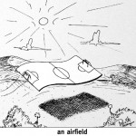 Cartoon of an airfield
