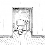 Cartoon of a toilet by the meter