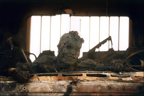 burnt to death iraqi soldier