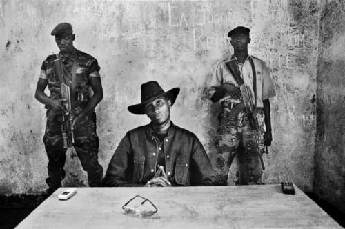 A portrait of rebel leader Nkunda in North Kivu