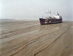 A ship slowly dying at a beach in Chittagong, Bangladesh